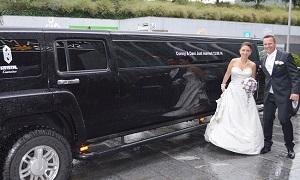Hummer Hochzeitslimo Beschriftung