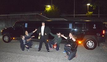 So feierte Kevin im Hummer